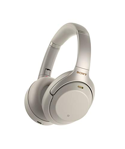 Sony WH-1000XM3 - Wireless Noise Cancelling Headphones, Silver
